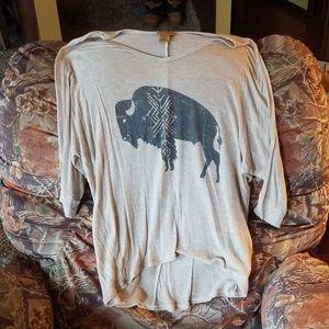 Wrangler buffalo pattern shirt